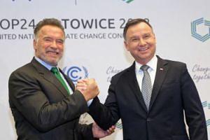 Arnold Schwarzenegger spotkał się z prezydentem Dudą w Katowicach (FOTO)