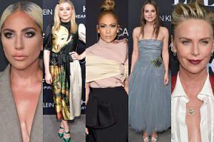 Lady Gaga, Jennifer Lopez i Charlize Theron pozują na hollywoodzkiej gali (ZDJĘCIA)