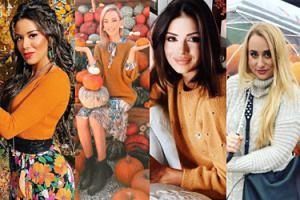 Pudelkowy przewodnik po JESIENIARACH - fankach dyniowego latte i ciepłych sweterków: Sara Boruc, Klaudia Halejcio, Tamara Gonzalez Perea (ZDJĘCIA)