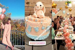 Baby shower Wendzikowskiej: pastelowe babeczki, złote balony i... Kasia Cichopek (ZDJĘCIA)