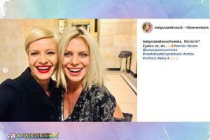 Blondynki Kożuchowska i Sadowska z szerokimi uśmiechami