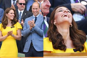 Roześmiani Kate i William na Wimbledonie (ZDJĘCIA)