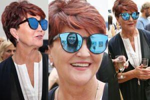 Jolanta Kwaśniewska rozsyła uśmiechy w galerii sztuki (ZDJĘCIA)
