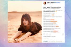 """Camila Cabello tarza się zmysłowo po piasku i cytuje """"Małego Księcia"""""""