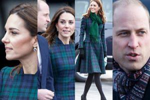 """""""Szkocka"""" Kate i uśmiechnięty William marzną podczas oficjalnej wizyty w Dundee (ZDJĘCIA)"""