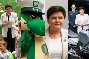 Beata Szydło z Krokodylem Tirkiem uczy dzieci bezpieczeństwa na drodze (ZDJĘCIA)