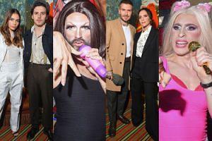 Tak wyglądała impreza po pokazie Victorii Beckham: celebrytki, drinki i... drag queens przebrane za Spice Girls (ZDJĘCIA)