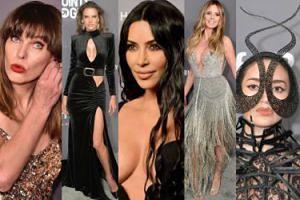 Gala amfAR: ściśnięte biusty Kardashianek, Heidi Klum i Alessandry Ambrosio na ściance (ZDJĘCIA)