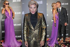 Paris Hilton z narzeczonym oraz Żywy Ken prezentują swoje sztuczności na ściance (ZDJĘCIA)
