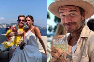 Beckhamowie bawią się na jachcie z Eltonem Johnem (FOTO)