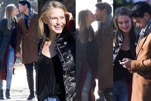 """Rozanielona Karolina Pisarek z """"Top Model"""" całuje się z chłopakiem na romantycznym spacerze (ZDJĘCIA)"""
