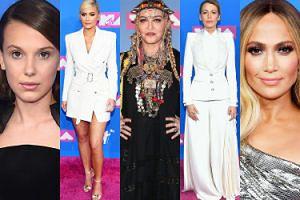 Czerwony dywan na gali MTV VMA 2018: Madonna, Jennifer Lopez, Kylie Jenner, Blake Lively... (ZDJĘCIA)
