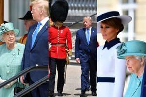Poważni Donald i Melania Trump na audiencji u królowej Elżbiety (ZDJĘCIA)