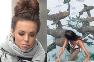 """Anna Wendzikowska chwali się kąpielą z facetem i rekinami: """"Całkiem sympatyczne"""" (FOTO)"""