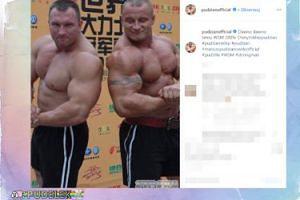 Napięty Pudzianowski podziwia muskuły kolegi