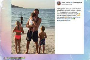 Cezary Pazura szczęśliwy z dziećmi w Dubaju