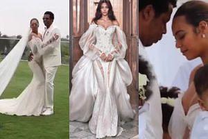 Beyonce pokazała wartą 38 tysięcy złotych suknię, w której ODNOWIŁA PRZYSIĘGĘ MAŁŻEŃSKĄ (FOTO)