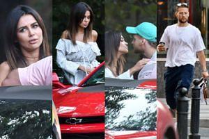 Natalia Siwiec ucina sobie pogawędkę z Sebastianem Fabijańskim przy swoim Chevrolecie Camaro za 230 tysięcy (ZDJĘCIA)