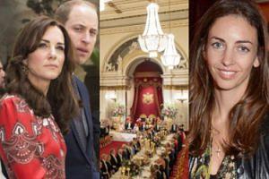 """""""Kochanka"""" księcia Williama pojawiła się na bankiecie w pałacu. Kate usiadła daleko od niej..."""