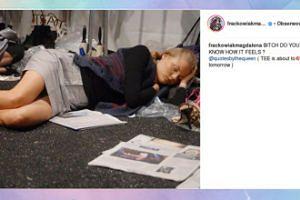 Magda Frąckowiak ociera się o bezdomność