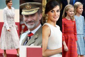 Zjawiskowa królowa Letycja z mężem i córkami obchodzą Narodowe Święto Hiszpanii (ZDJĘCIA)