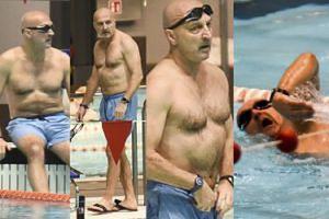 Kazimierz Marcinkiewicz łagodzi stres na basenie (ZDJĘCIA)