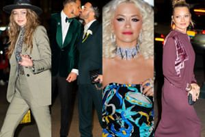 Tłum gwiazd świata mody idzie na wesele Marca Jacobsa: wesołe siostry Hadid, Kate Moss z córką i mroczna Naomi Campbell (ZDJĘCIA)