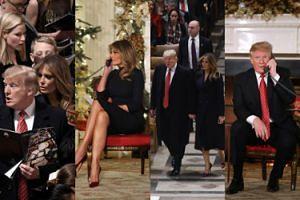 Zaangażowani Donald i Melania Trump telefonują z dziećmi i śpiewają w kościele (ZDJĘCIA)