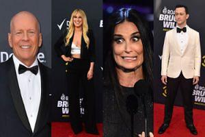 Rodzina i przyjaciele przyszli na roast Bruce'a Willisa. Najlepiej wypadła jego była żona! (ZDJĘCIA)