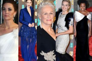 BAFTA 2019: anielska księżna Kate, elegancka Glenn Close i ekstrawagancka Margot Robbie zadają szyku na czerwonym dywanie (ZDJĘCIA)