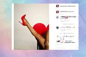 Mucha kusi nogą na Instagramie
