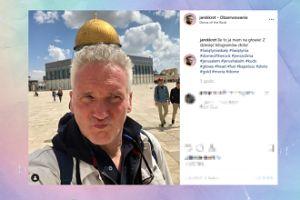 Kret robi głupie miny w Jerozolimie