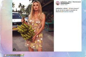 Maffashion na ulicach Omanu rozdaje kiści bananów