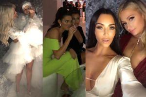 Paris Hilton, Jennifer Lopez i Sofia Richie bawią się na Wigilii u Kim Kardashian (ZDJĘCIA)
