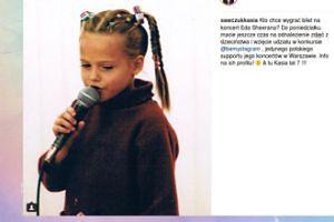 Kasia Sawczuk na zdjęciu z dzieciństwa