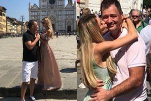 Roxy Gąska i Jacek Rozenek zwiedzają Włochy. Są buziaki i pozowanie z posągami (ZDJĘCIA)