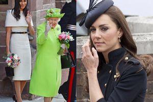"""Królowa Elżbieta WOLI Meghan od Kate. """"Nie ma bliskiej relacji z Middleton, a Markle wie, jak ją rozbawić"""""""