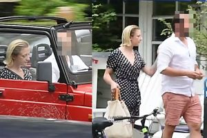 Lara Gessler dowcipkuje z nowym chłopakiem w czerwonym Jeepie