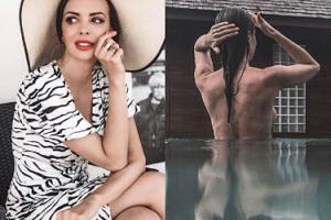 """Ania Wendzikowska pozuje topless w basenie. """"Szczęściarz z tego pana, który z panią podróżuje"""""""