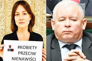 """Ostaszewska komentuje przemówienie Kaczyńskiego: """"Wara od moich dzieci!"""""""