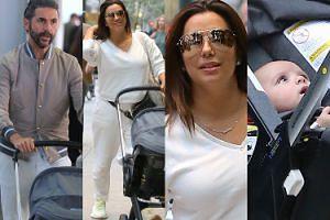 Szczęśliwa Eva Longoria spaceruje z mężem i synkiem po Nowym Jorku (ZDJĘCIA)