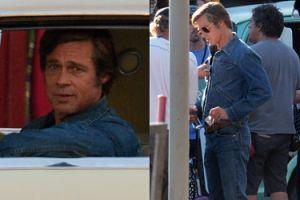 Dawno niewidziany Brad Pitt na planie nowego filmu Quentina Tarantino. Przystojny? (ZDJĘCIA)