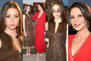 Catherine Zeta-Jones promuje 16-letnią córkę na rzymskim pokazie mody (ZDJĘCIA)