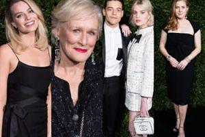 """Eleganckie gwiazdy pozują na """"liściastej ściance"""" imprezy Chanel przed galą BAFTA 2019 (ZDJĘCIA)"""