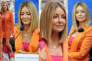 Dumna Małgorzata Rozenek-Majdan promuje swoją książkę w oranżowej stylizacji (ZDJĘCIA)