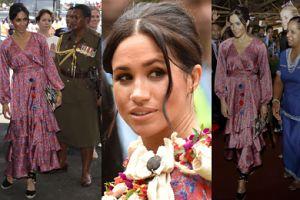 Meghan Markle została WYPROWADZONA PRZEZ OCHRONĘ podczas wizyty w stolicy Fidżi (ZDJĘCIA)