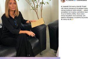 Małgorzata Rozenek-Majdan promuje nowy projekt nietęgą miną