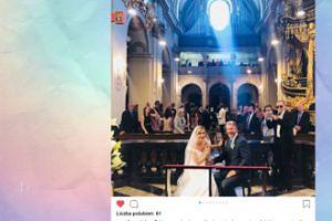 Zaskoczeni Nunesowie na ślubnym zdjęciu