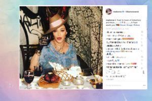 Madonna wznosi toast za miłośników przygód