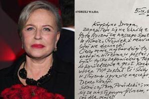 Krystyna Janda opublikowała list, który Wajda wysłał jej przed śmiercią!